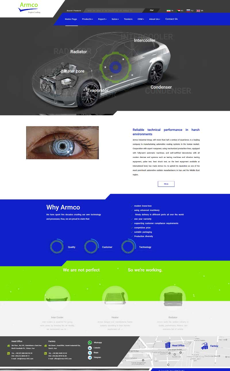 Armco .co website